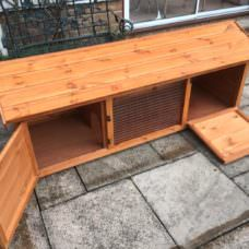 6ft British Giant Xl Rabbit Hutch + Ramp Door
