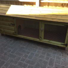 6ft British Giant Xl Rabbit Hutch + Wire Door