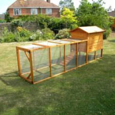 Long Chicken Enclosure