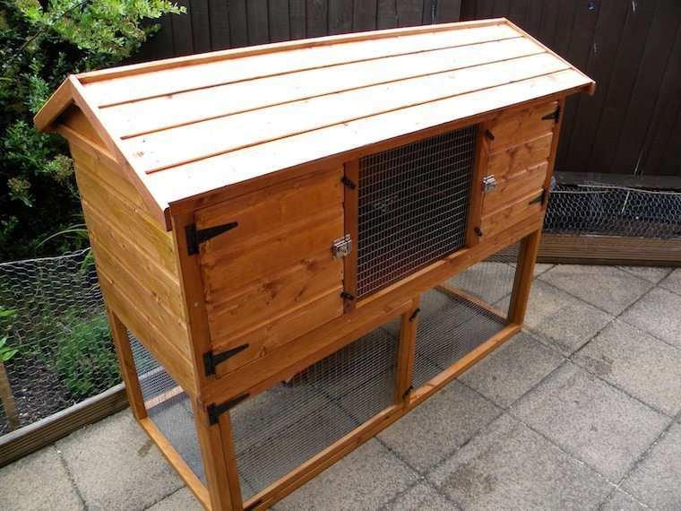 British giant hutch 5ft with run wooden english giant for 5 foot rabbit hutch