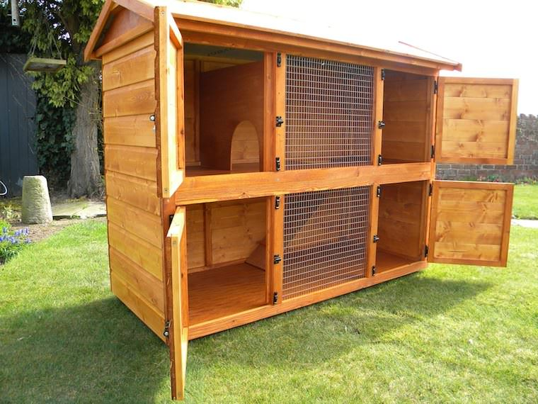 British giant hutch double wooden english giant rabbit hutch for Outdoor rabbit hutch kits