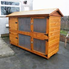 British Giant (6ft Double) Wire Door Rabbit Hutch